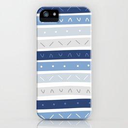 Bowie Blue Stripe iPhone Case