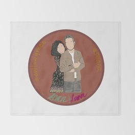 Sean Maguire & Lana Parrilla (The Happy Ending Convention II) Throw Blanket