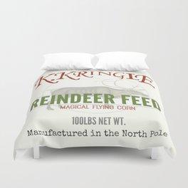 Christmas Reindeer Feed sack Duvet Cover