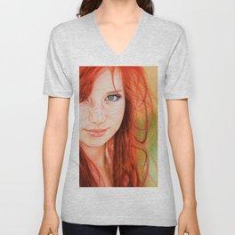 Redhead Girl Unisex V-Neck