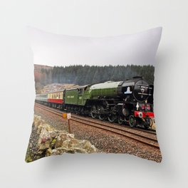 60163 Tornado at Blea Moor Throw Pillow