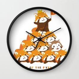 RED PANDA: PYRAMID Wall Clock