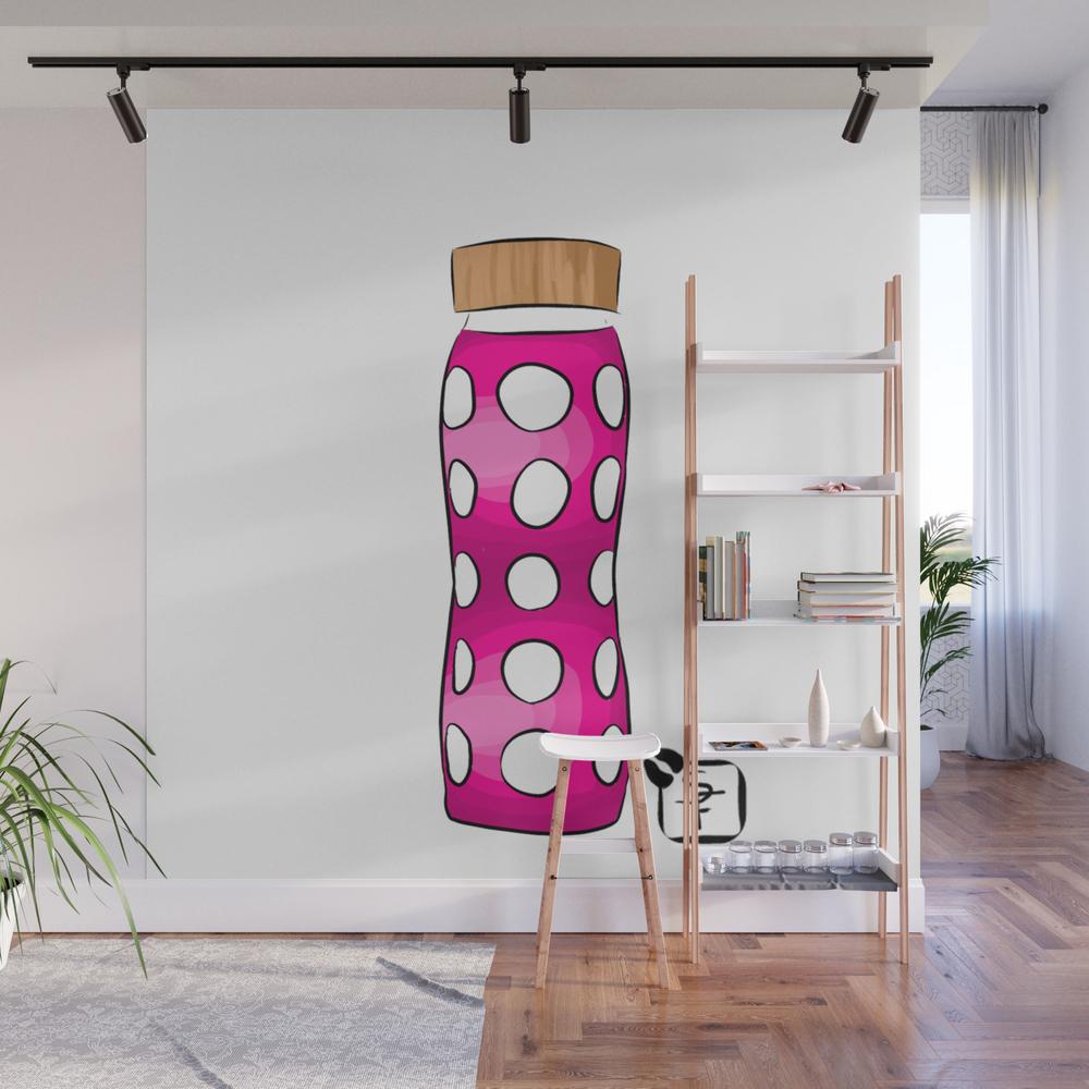 Pink Water Bottle Wall Mural by Sonnefaunart WMP7933314