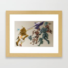 The Girl and the Robot - Two Sides Framed Art Print