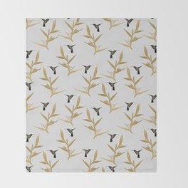 Hummingbird & Flower II Throw Blanket