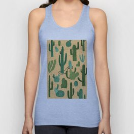 The Snake, The Cactus and The Desert Unisex Tank Top