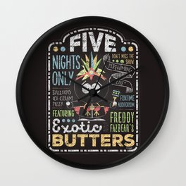 Exotic Butters Wall Clock
