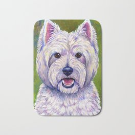 Colorful West Highland White Terrier Dog Bath Mat