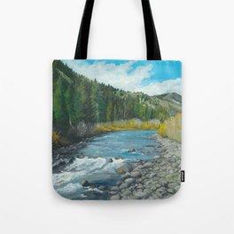 Mountain Stream Art Tote Bag
