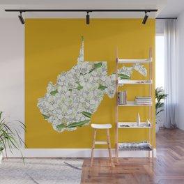 West Virginia in Flowers Wall Mural