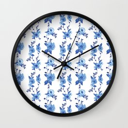 CB x SK BLUE FLORAL Wall Clock