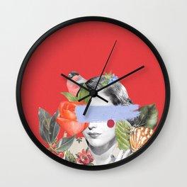Redscale II Wall Clock