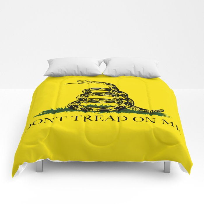 don t tread on me gadsden flag comforters by