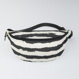 Tribal Stripes Black on Cream Fanny Pack