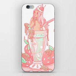 Strawberry Mermaid Shake iPhone Skin