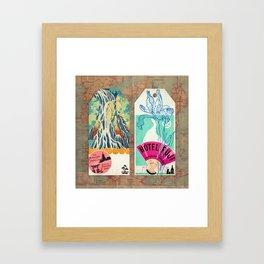 Label Fables, Japan I :: Fine Art Collage Framed Art Print