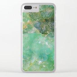 Absinthe Green Quartz Crystal Clear iPhone Case