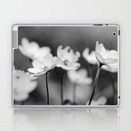 Anemone hepatica II - BW Laptop & iPad Skin