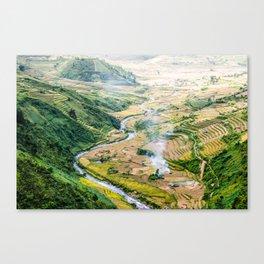 Ricefields of Vietnam Canvas Print