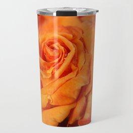 Tangerine Rose Travel Mug
