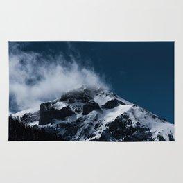 Crushing clouds #mountain #snow Rug