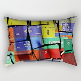 Colorful container wall board Rectangular Pillow