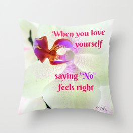 """""""No"""" Feels right Throw Pillow"""