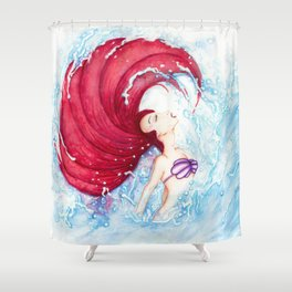 Ariel Becomes Human Shower Curtain