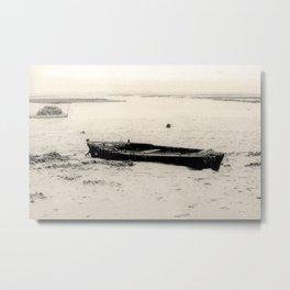 Old boat sank in the beach Metal Print