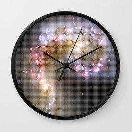 Pixel Nebula Wall Clock