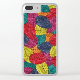 Let the Leaves Fall #02 Clear iPhone Case