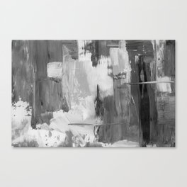 Paint (Black and White) Canvas Print