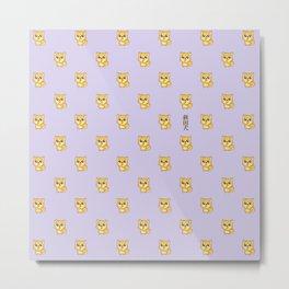 Hachikō, the legendary dog pattern Metal Print