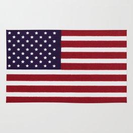 "Stars & Stripes flag, painterly ""old glory"" Rug"