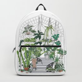 greenhouse illustration Backpack