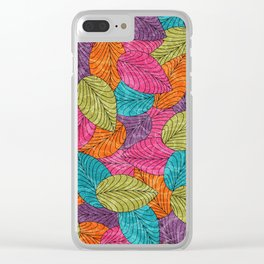 Let the Leaves Fall #13 Clear iPhone Case