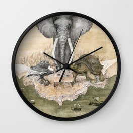 Elephant tea time Wall Clock