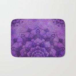 Deep Purple Lotus Mandala Bath Mat