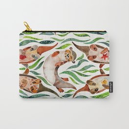 Five Otters – Green Seaweed Carry-All Pouch