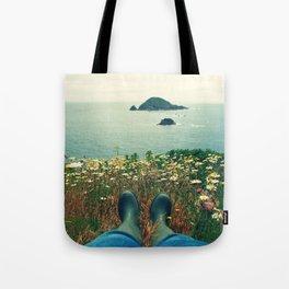 Wellies & Wild Flowers Tote Bag
