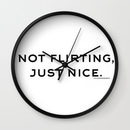just nice. Wall Clock
