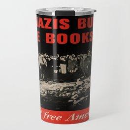 Vintage poster - Burned Books Travel Mug