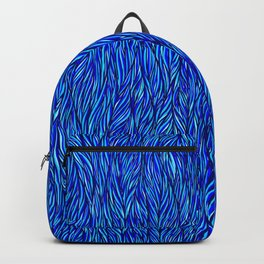 Blue Fur Backpack