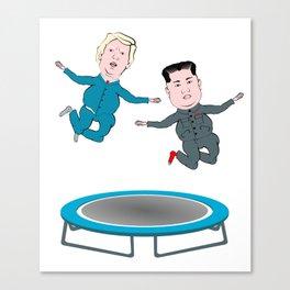 Trump and Kim Jong Un Canvas Print