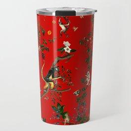 Monkey World Red Travel Mug