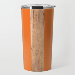 Wood Grain Stripes - Orange #840 Travel Mug