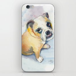 Sweet Bulldog Puppy iPhone Skin