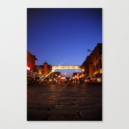 The Stock Yards Canvas Print