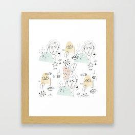 minimal summer Framed Art Print