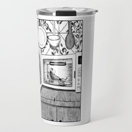 Roaches enjoying life. Travel Mug